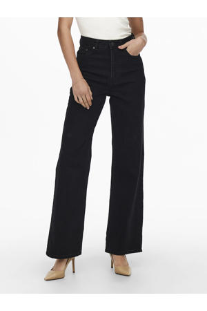 high waist wide leg jeans ONLCAMILLE black denim