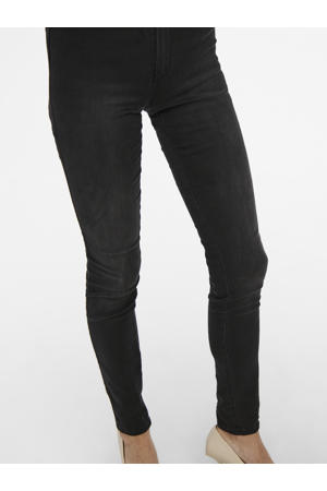 high waist skinny jeans ONLROYAL black denim