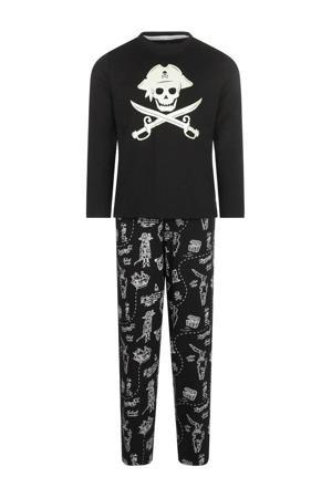 pyjama Pirate Dreams met printopdruk zwart/wit