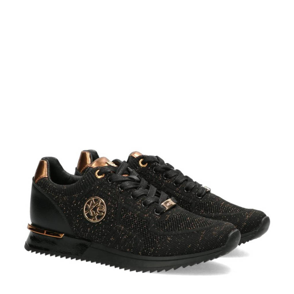 Mexx Gitte Glitter  sneakers zwart/koper, Zwart/koper