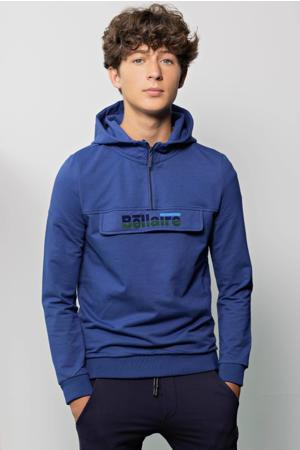 hoodie met logo blauw