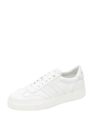 Benito  leren sneakers wit