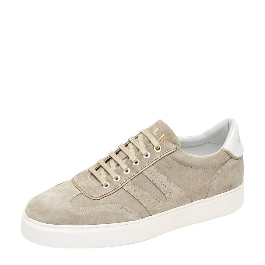 Van Lier Benito  suède sneakers beige, Beige/zand