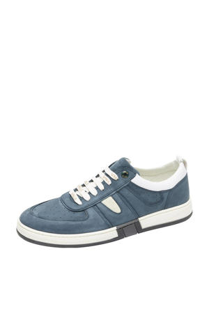 Leon  nubuck sneakers grijsblauw