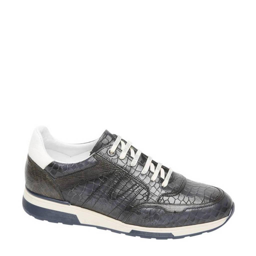 Van Lier Positano  leren sneakers blauw, Blauw