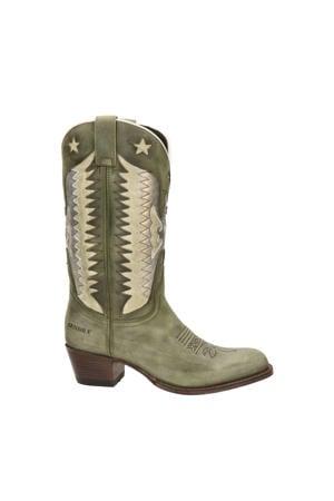 Debora Insa  leren cowboylaarzen kaki