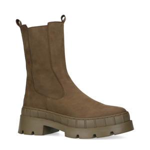 suède chelsea boots kaki