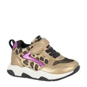 sneakers goud/paars
