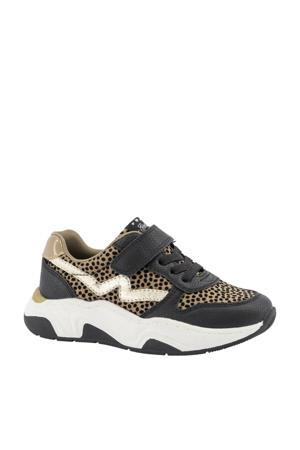 sneakers zwart/beige