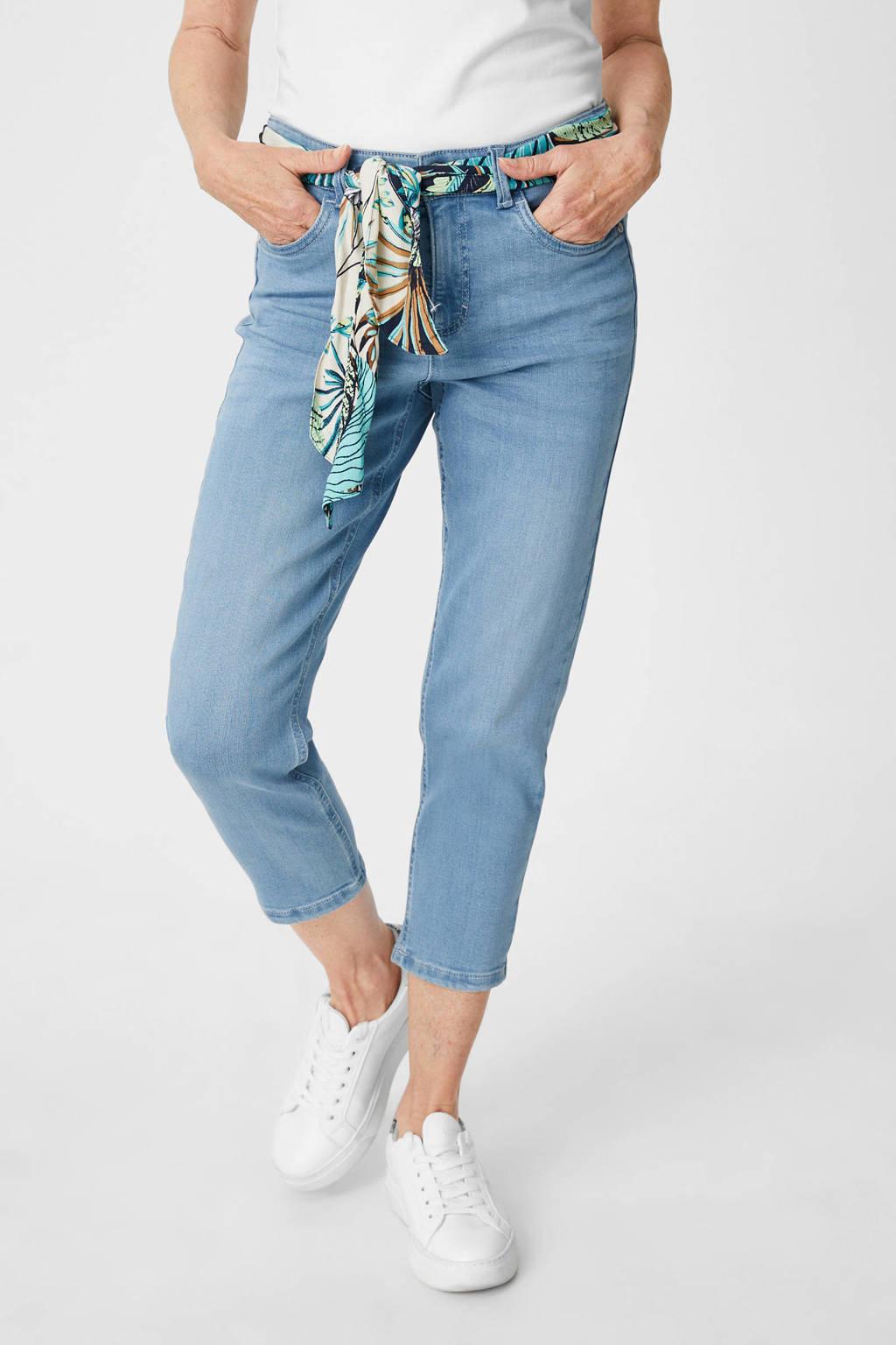 C&A cropped slim fit jeans lichtblauw, Lichtblauw