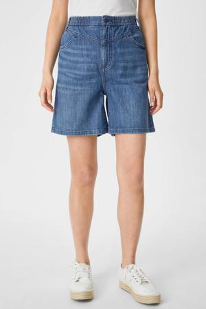 loose fit korte broek blauw