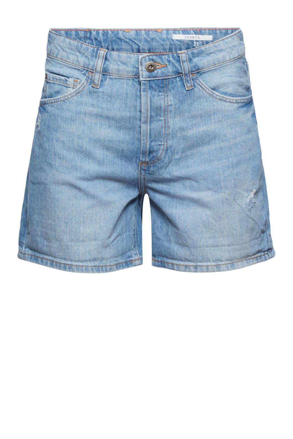 edc Women straight fit jeans short light denim, Light denim