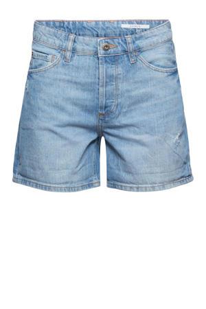 straight fit jeans short light denim