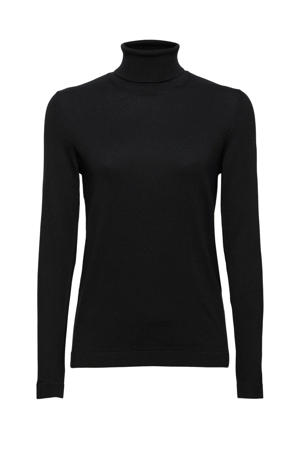 fijngebreide trui met biologisch katoen zwart