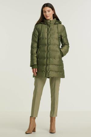 gewatteerde jas groen