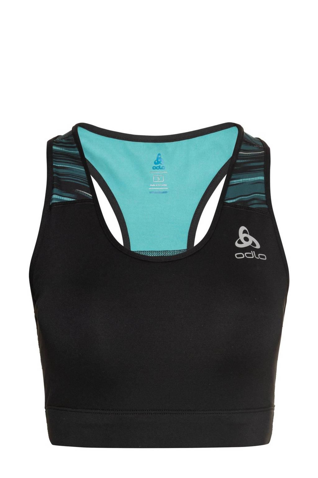 Odlo level 4 sportbh Essential zwart/groen, Zwart/groen
