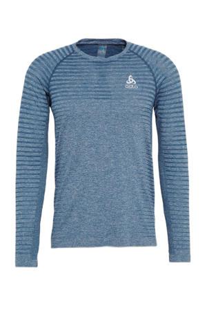 hardloopshirt blauw melange
