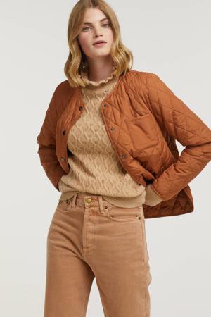 gewatteerde jas van gerecycled polyester oranje