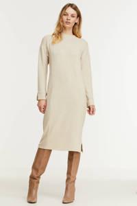 edc Women gemêleerde fijngebreide jurk beige, Beige