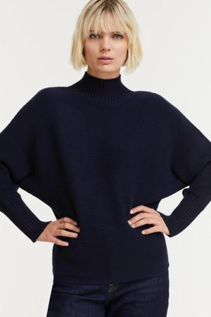 gebreide trui met vleermuismouwen donkerblauw
