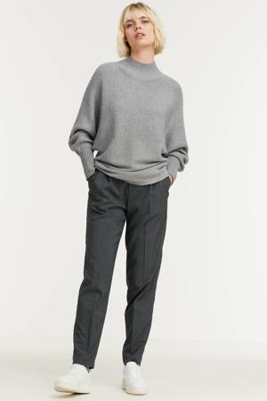 gebreide trui met vleermuismouwen grijs