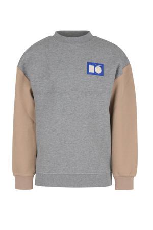 gemêleerde sweater Soren grijs melange/beige