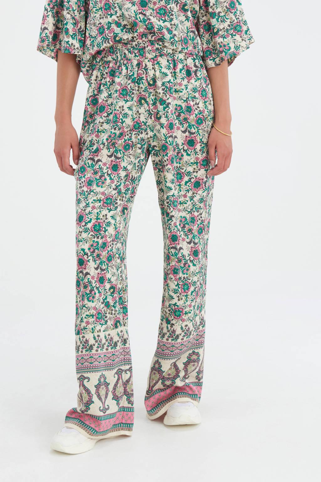 Shoeby Eksept high waist wide leg palazzo broek Printed met all over print multi, Multi