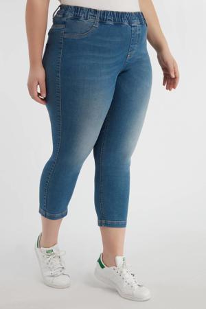 cropped skinny capri jeans light denim