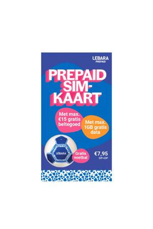 prepaid simkaart + voetbal