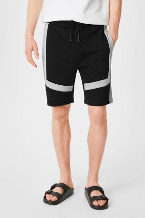 regular fit sweatshort zwart