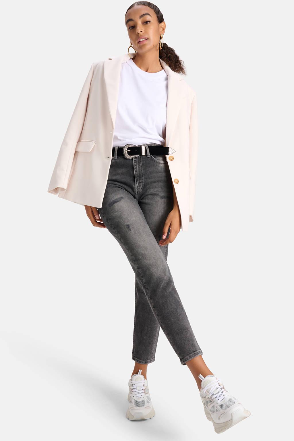 Shoeby Eksept mom jeans Nora black denim, Black denim
