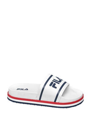 badslippers wit/blauw/rood