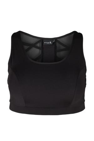 Plus Size level 3 sportbh zwart