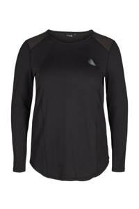 ACTIVE By Zizzi sport T-shirt zwart, Zwart