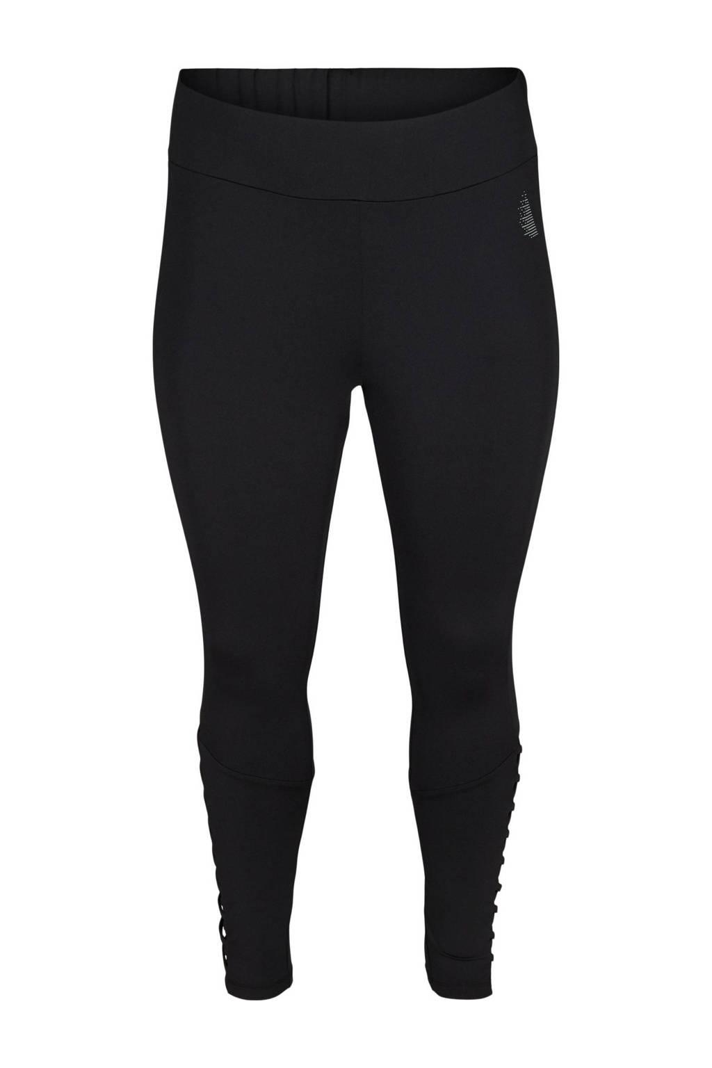 ACTIVE By Zizzi Plus Size 7/8 sportlegging zwart, Zwart