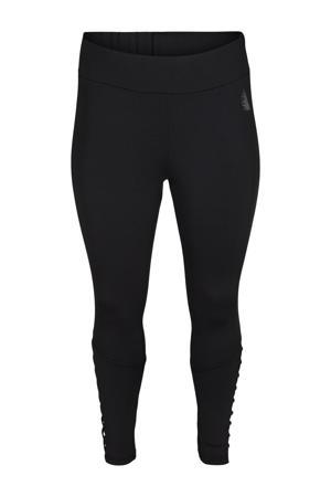 Plus Size 7/8 sportlegging zwart