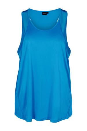 Plus Size sporttop blauw
