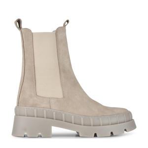 Nora  leren chelsea boots beige