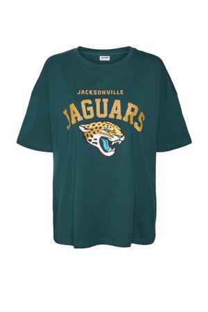 T-shirt NMMARTA met printopdruk groen