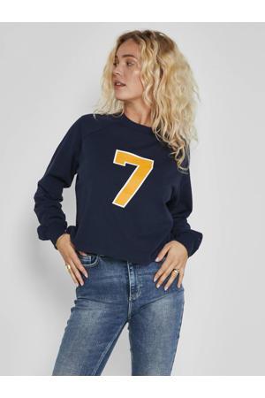 sweater NMSUNNY van biologisch katoen donkerblauw