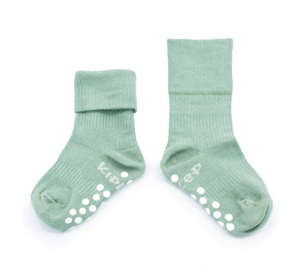 KipKep Blijf-Sokjes anti-slip groen, Groen
