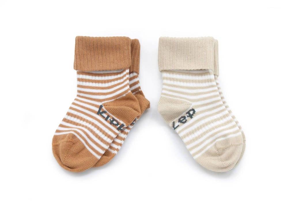 KipKep Blijf-Sokjes - set van 2 camel/sand, Camel