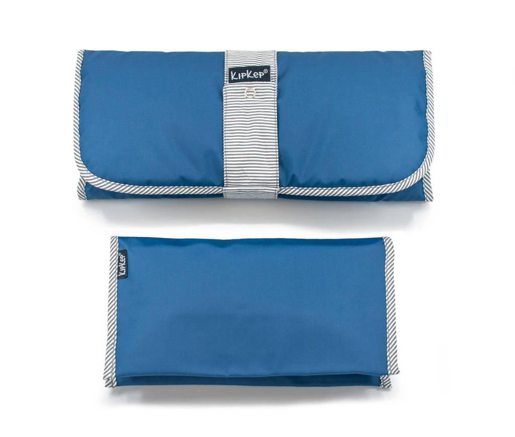KipKep Napper combi: verschoonmatje + luieretui denim blue, Blauw