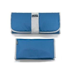 Napper combi: verschoonmatje + luieretui denim blue