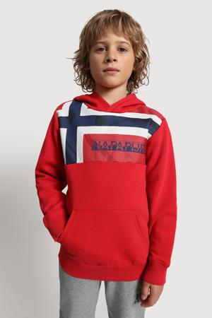 hoodie Beri met logo rood