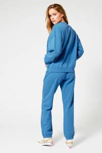 America Today sweater met printopdruk chalk blue, Chalk blue