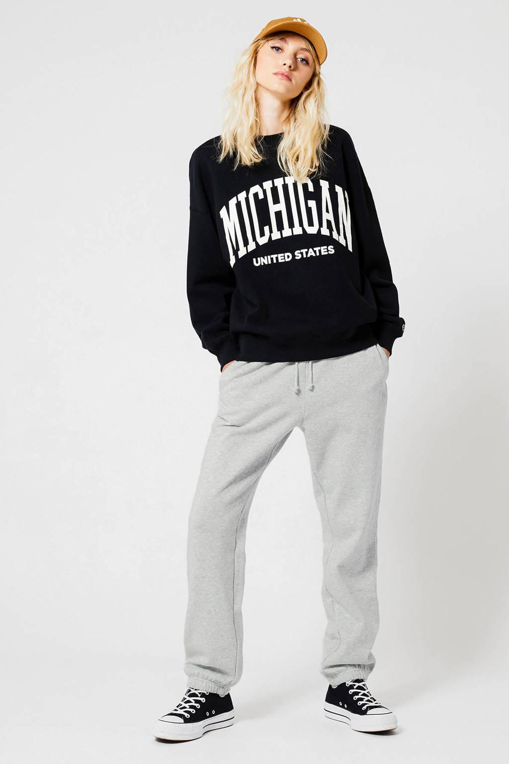 America Today sweater met printopdruk washed black