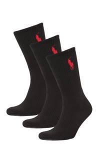 POLO Ralph Lauren sokken Big Pony - set van 3 zwart, Zwart