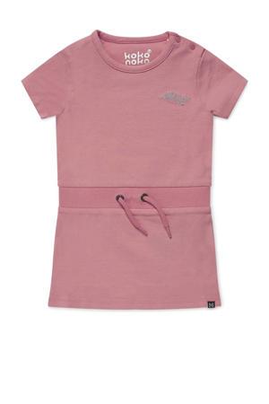 jurk Nala met tekst en glitters roze