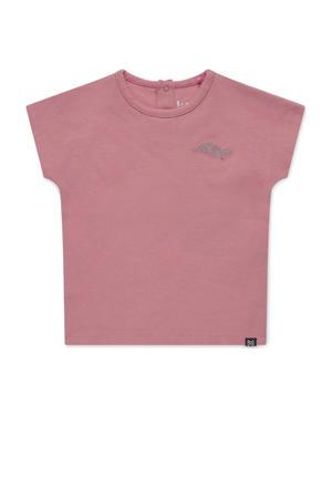 T-shirt Noemi met tekst roze
